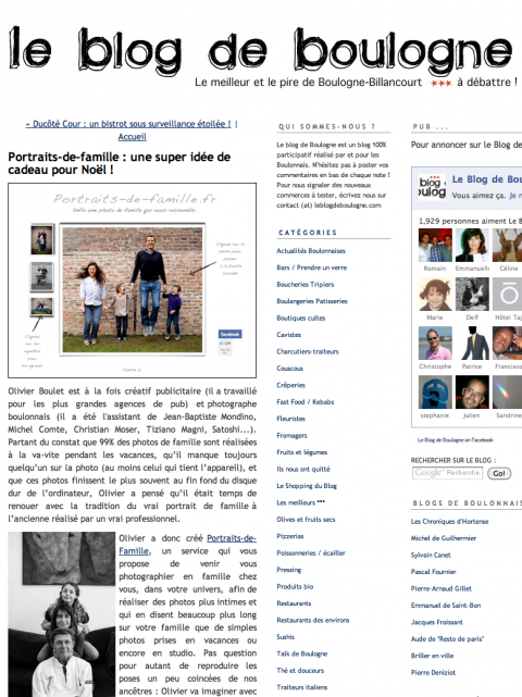 Le Blog de Boulogne, 2010.