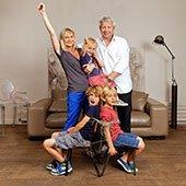 Candice et sa famille, Courbevoie, 2011.