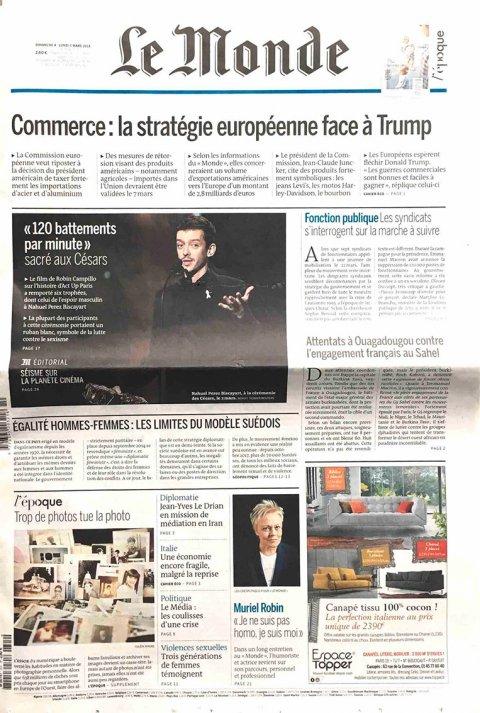Article dans Le Monde du 4 mars 2018