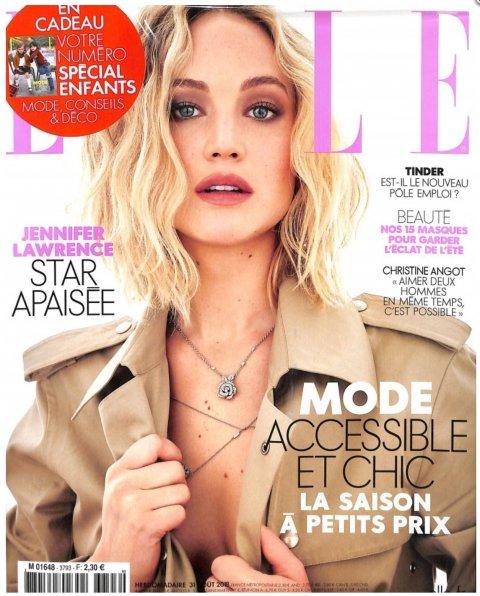 Parution Elle Magazine du 31 aout 2018.