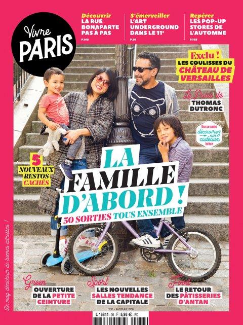 Couv + Portfolio dans le Magazine Vivre Paris de la rentrée 2018.