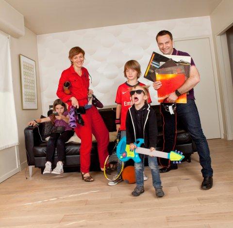 Famille M, Sceaux, 2011.