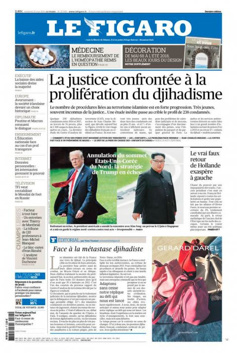 Article LeFigaro.fr du 25 mai 2018